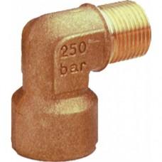 Переходник угловой, 350bar, 1/4внеш-1/4внут, латунь PA 12.2004.00