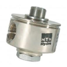 Поворотная муфта для консоли 90°, 280бар, 40 л/мин, 160 °C, вход-1/4внеш, выход-1/4внут, нержавеющая сталь MTM