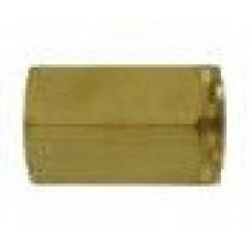 Переходник 1/4внут - 1/4внут, 400bar, латунь R+M 51830