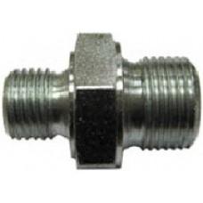 Переходник (пистолет-муфта, LS3-ниппель 250bar) 1/4внеш - 3/8внеш, 500bar, оцинк.сталь R+M 57058