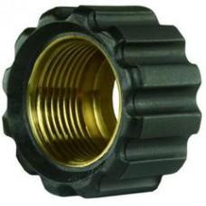 Гайка накидная для прессниппеля M22, внут.диаметр 16,4mm, латунь R+M 31920