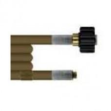 Шланг для прочистки труб и промывки канализации 40m (DN04 износостойкий, 300bar,  100°C, М22х1,5 внут-1/8внеш) R+M 411000040