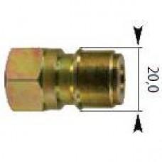 Ниппель 250bar, 3/8внут, оцинк.сталь  R+M 557204
